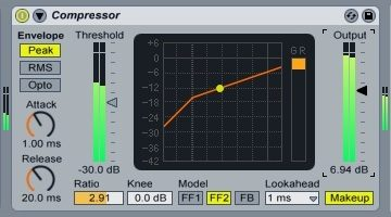 I compressori Audio, come funzionano e come utilizzare quelli integrati in Ableton Live