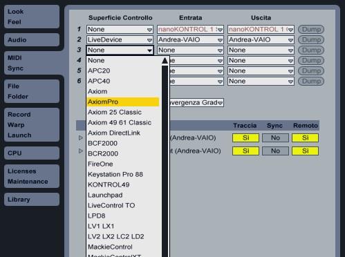Ableton default MIDI Remote Script - Ableton Universe