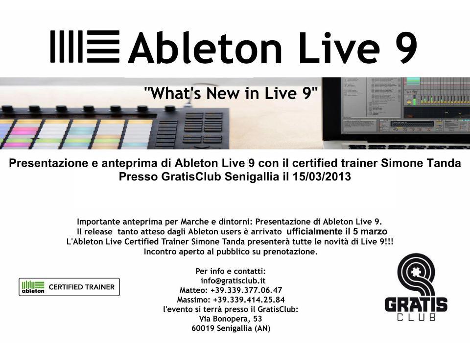 Flyer Presentazione Ableton Live 9