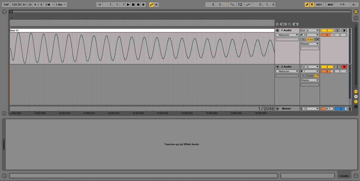 Live Set Compensazione Latenza Scheda Audio