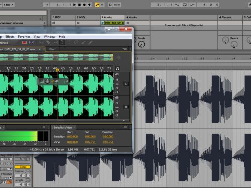 Software di editing audio all'interno di Ableton Live
